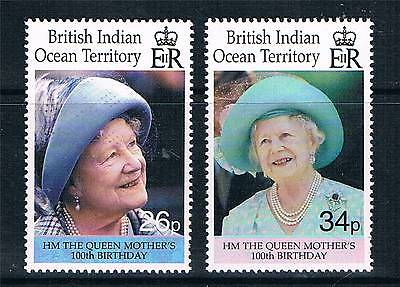British Indian Ocean Territory 2000 Queen Mothers 100th B/day SG240/1 MNH