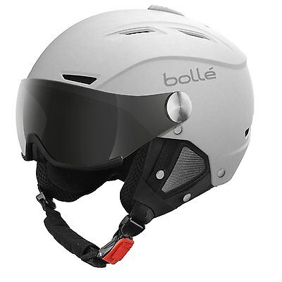 Bollé Skihelm Backline Visor Soft With 1 Gun und Lemon, White, 56-58 cm, 30763