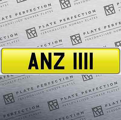 Anz 1111 An Dateless Cherished Private Number Plate Dvla Registration