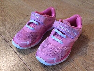 girls pink trainers, infant size 8.5