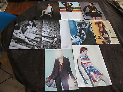 Vintage Helmut Lang Lot Fashion Print Ads ,clippings