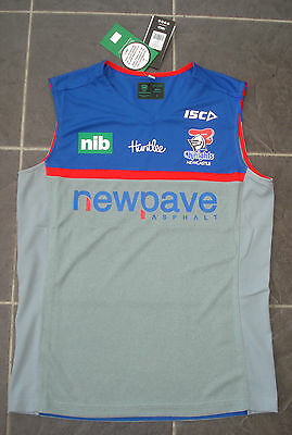 BNWT Large Newcastle Knights Rugby League NRL Training Singlet  2016