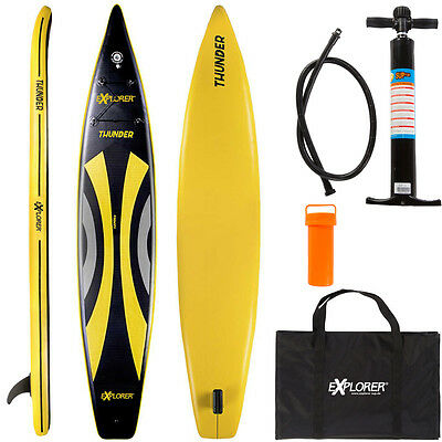 Explorer Touring Race 380 Sup Stand Up Paddle Board Inflatable Pumpe Isup Aqua