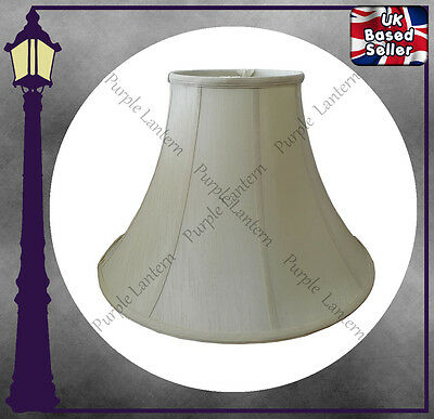 Cream Bell Shaped Standard Lamp Shade Fully Lined 6 10