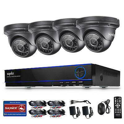 SANNCE 8CH AHD DVR 1080P 2MP Video Security Camera Home Surveillance Kit Remote