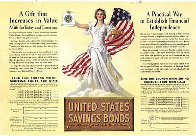 UNITED STATES Savings Bonds 1937 Color Ad