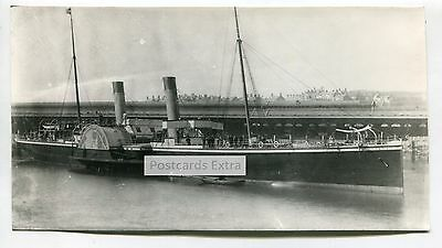 Paddle steamer 'Violet' at unknown quay - old photo