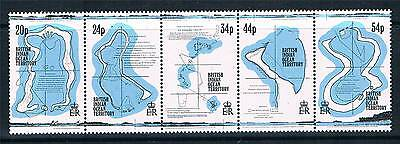 British Indian Ocean Territory 1994 18th Century Maps SG147/51 MNH
