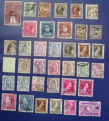 BELGIUM - 1928 - 1946 Collection of Used Stamps