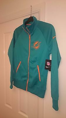 New MIAMI DOLPHINS Nike NFL Jacket Ladies Med Tracksuit Top Women's 12 - 14