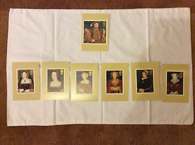 ROYAL MAIL POSTCARDS - HENRY 111V and his 6 wives - excellent condition
