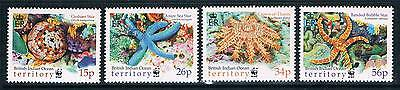 British Indian Ocean Territory 2001 Sea Stars SG 253/6 MNH