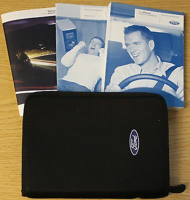 FORD FOCUS Mk2 HANDBOOK OWNERS MANUAL PACK 2008-2011 FACELIFT + SERVICE BOOK