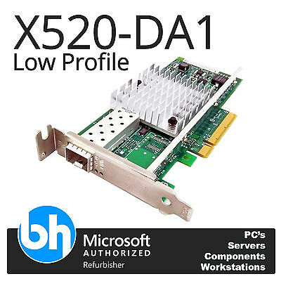 Intel X520-DA1 PCIe-x8 10GBe Ethernet 10GB SFP Low Profile Card