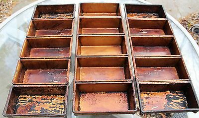 Lot of 3 Commercial 5-Strap Bread Loaf Pans American Pan Chicago Metallic Cainco