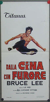 gz00 FIST OF FURY BRUCE LEE rare POSTER ITALY