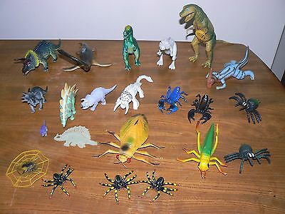 Job Lot Of Dinosaurs & Insects.Bundle.Toys.Plastic