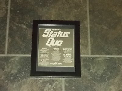 Status Quo-1988 UK Tour-Original advert framed