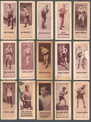 1920's Willard's V137 Prime Fighters Trading Cards Lot of 15