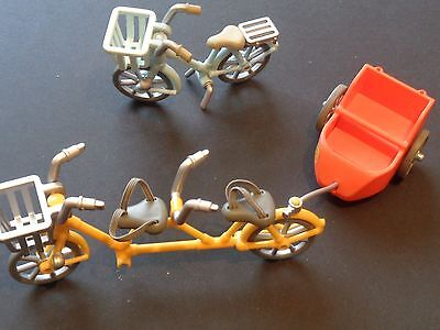 2 x EPOCH BYCICLES,TANDEM ,AND SHOPPER,, DOLLS HOUSE