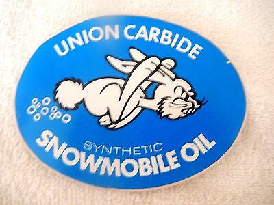 Vintage Sticker for Union Carbide Synthetic Snowmobile Oil