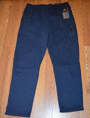 NWT Mens Free Country Dark Navy Ultimate Comfort Cargo Sweat Pants L Large