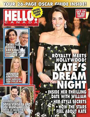 Hello Canada Magazine - Kate Middleton - NEW Mar 6 2017