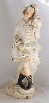 Late C19Th Staffordshire Figure Of A Scottsman Holding A Bird Of Prey