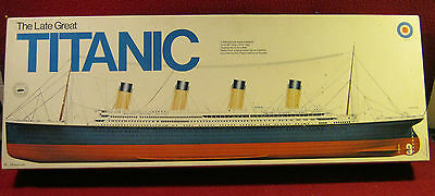 Entex The Late Great TITANIC 1/350 scale model in box sealed contents + instr