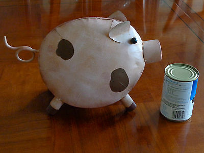 """Handcrafted Home Decor Metal Pig Animal Collectible Farm  10""""h X 12""""l"""