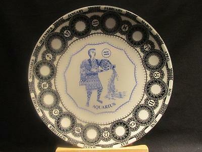 Aquarius Royal Doulton Vintage Zodiac Series Plate Water Carrier