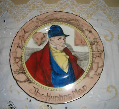ROYAL DOULTON VINTAGE COLLECTORS' PLATE 'THE HUNTING MAN' YEAR DATE CODE 1930's