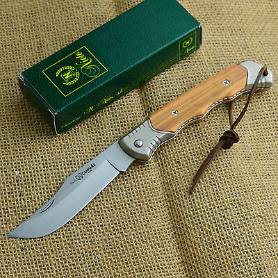 Nieto Navaja Linea Campańa Olive Wood Handle Folding Pocket Knife 0100