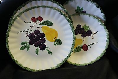 Fruit Fantasy by Blue Ridge Southern Pottery China Set of 2 Round Bread Plates