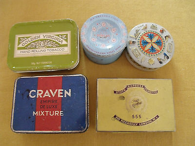 Job Lot of vintage cigarette tins and others.