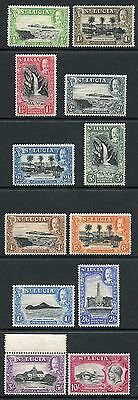 St Lucia 1936 KGV pictorial set of 12 U/M