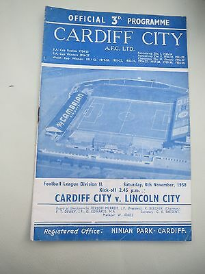 Cardiff V Lincoln !958/9