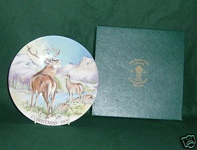 Crown Staffordshire 1979 Christmas Plate With Box