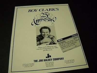 ROY CLARK his 25th Anniversary 1986 PROMO POSTER AD mint condition