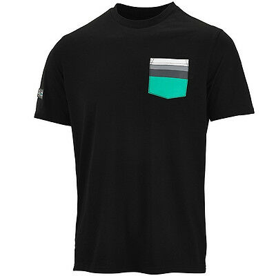Mercedes AMG Petronas Mens Pocket Tee SS T Shirt Formula One Team Short Sleeve