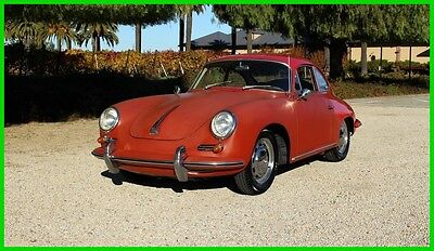 1964 Porsche 356 PORSCHE 356 1600 SC REUTTER COUPE 356SC REUTTER COUPE #MATCH SOLID FACTORY FLRS CA BLACK PLATE UNMOLESTED ORIGINAL