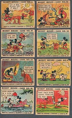 1935 O-Pee-Chee V303 Mickey Mouse Trading Cards Lot of 10