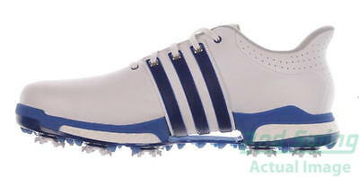 New Mens Golf Shoe Adidas Tour 360 Boost Medium 8.5 White/Blue MSRP $200