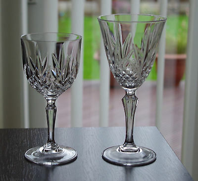 Two beautiful crystal wine glasses