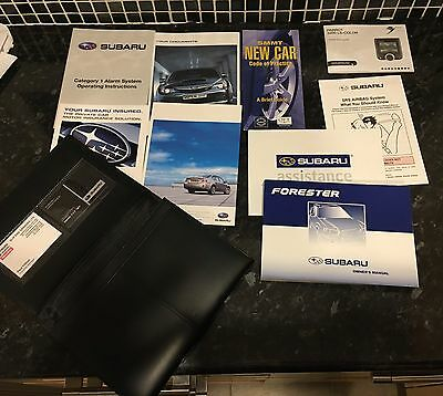 Subaru Forester Owners Manual Pack With Wallet