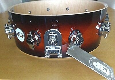 "New DW maple snare shell/w mounted hardware:  5.5 x 14"",  Design Series"