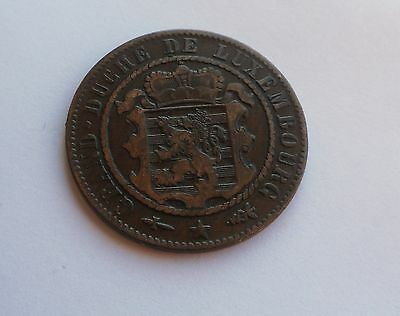 Luxembourg, 10 Centimes 1870,  in Good Condition