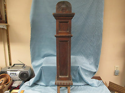 "Antique 42"" Wooden Newel Post Arts & Crafts Era, For Repurpose, Architectural"