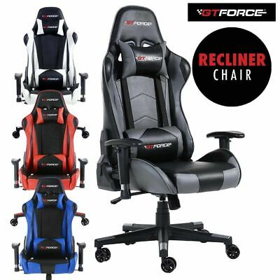 Gtforce Pro Fx Reclining Sports Racing Gaming Office Desk Pc Car Leather Chair