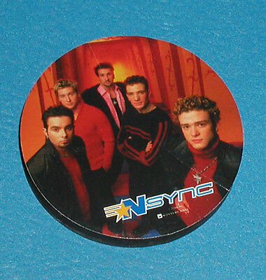 """Nsync Music Group Refrigerator Color Magnet 2 1/4"""" Round X 1/4"""" Inches High"""